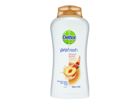 Dettol Profresh Shower Gel Peach Burst Body Wash 500ml