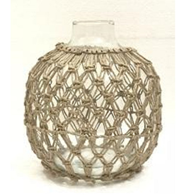 Dev Glass Vase W Rope Detail - Large