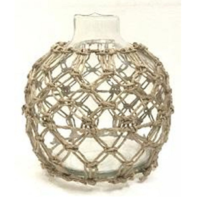 Dev Glass Vase W Rope Detail - Medium