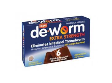 Deworm Extra 500mg Chocolate Chews 6