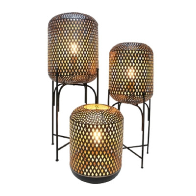 Dia Metal Lamp On Stand - Black/Small
