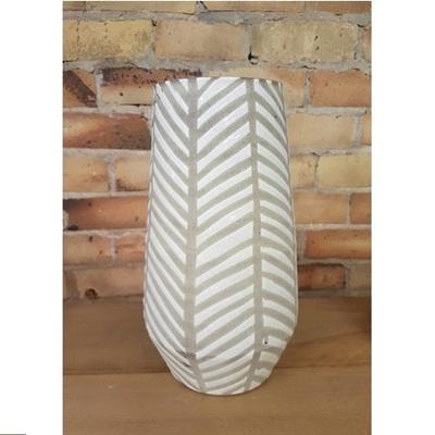 Diagonal Stripe Ceramic Vase