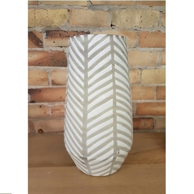 Diagonal Stripe Ceramic Vase