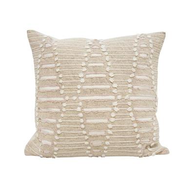 Diah Cushion W Applique & Dori Work - Beige 55x55cm
