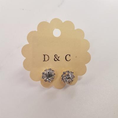 Diamante Flower Earrings