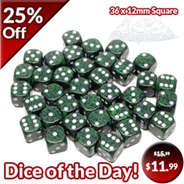 36 'Recon' Speckled Six Sided Dice (12mm)