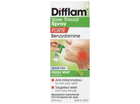 Difflam Forte Sore Throat Spray 88 Sprays 15mL