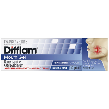 Difflam Mouth Gel Peppermint 10g