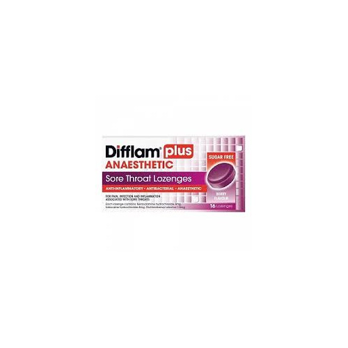 Difflam Plus AnaestHETIC Berry 16 LOZ
