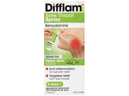 Difflam Sore Throat Spray 176 Sprays 30ml