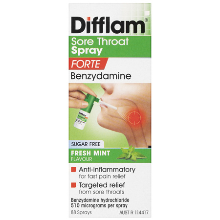 Difflam Sore Throat Spray Forte 88 Sprays 15mL