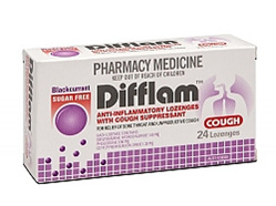 Difflam Sugar Free Cough Lozenges Blackcurrant 24