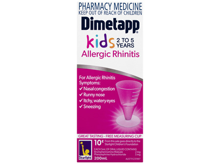 Dimetapp Allergic Rhinitis Kids 2 to 5 Years 200mL