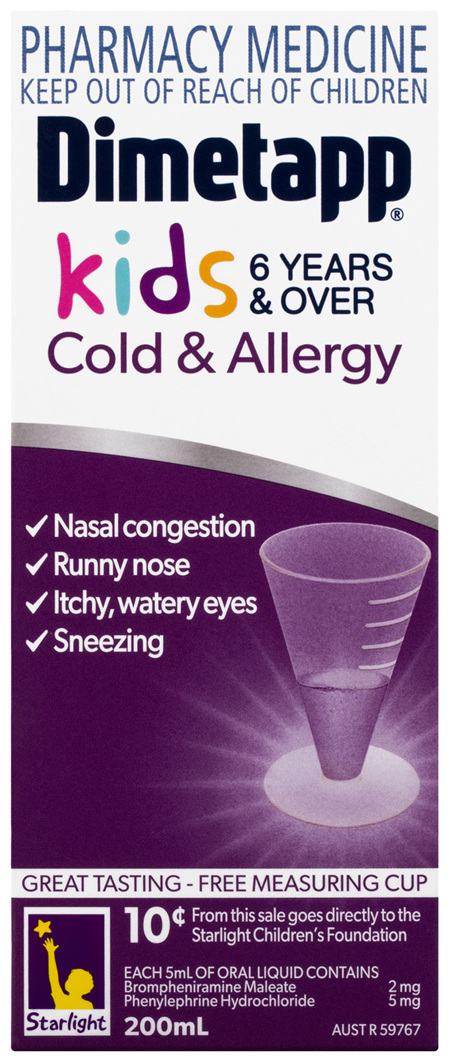 Dimetapp Cold & Allergy Kids 6 Years & Over 200mL