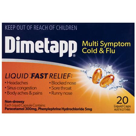Dimetapp® Multi Symptom Cold & Flu 20 Pack
