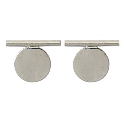 Disc Earrings - Silver
