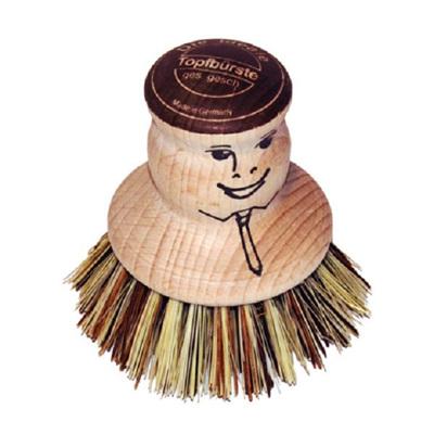 Dishy Pot Brush - Beech/Face