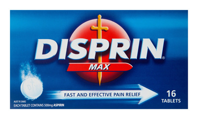 Disprin Direct Fast Acting Pain Relief Tablets 16 Pack