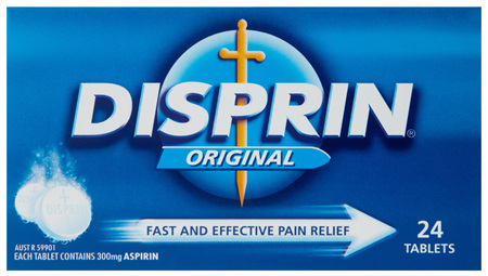 Disprin Original Fast and Effective Dispersible Tablets 300mg Aspirin 24 pack