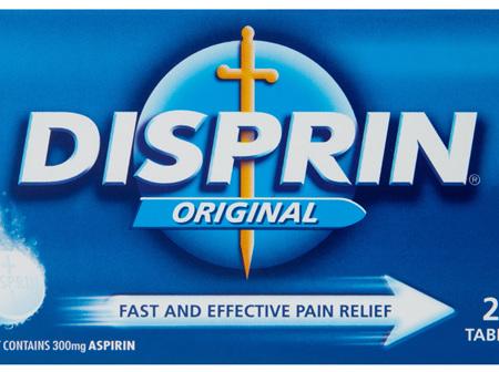 Disprin Original Fast and Effective Dispersible Tablets 300mg Aspirin 24 pack