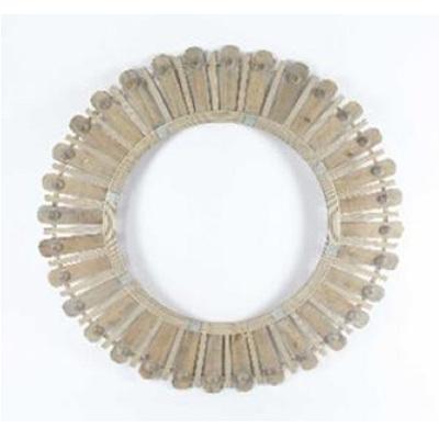 Diva Bamboo & Wood Bead Mirror - 100cm D