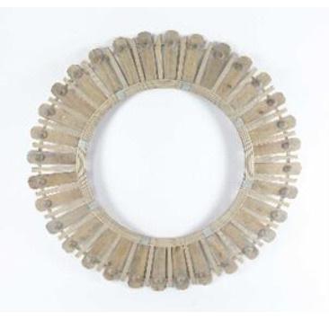Diva Bamboo & Wood Bead Mirror - Natural 100cm