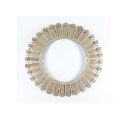 Diva Bamboo & Wood Bead Mirror - Natural 100cm