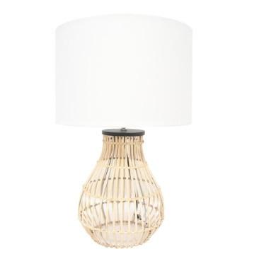 Diva Table Lamp - Natural Cane 61cmh