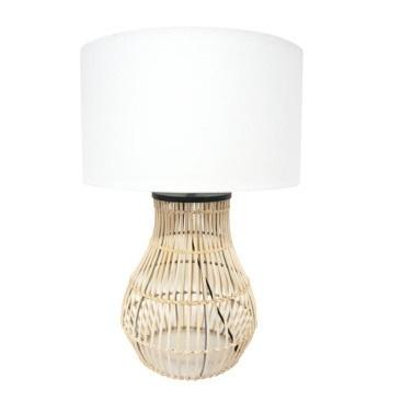 Diva Table Lamp - Natural Cane 67cmh