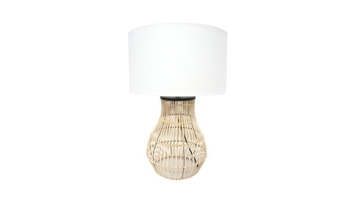 Diva Table Lamp - Natural Cane 67cmh
