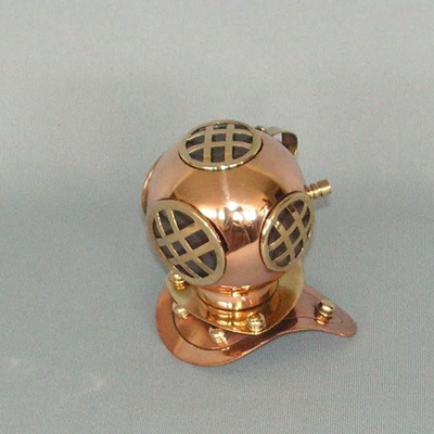 Divers Helmet - Small Copper/Brass