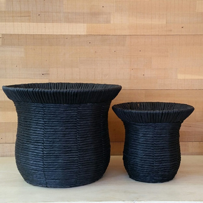 Donnie Woven Basket Planters - Plastic Lined