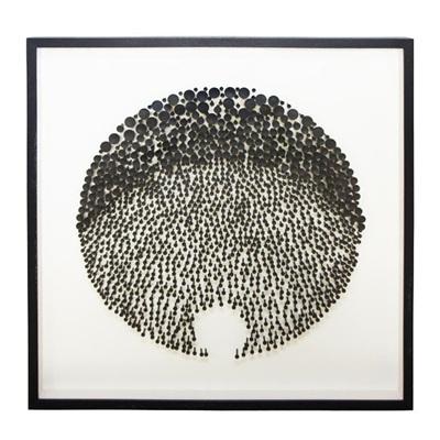 Dotti Wall Art - Black Frame - 100x100cm