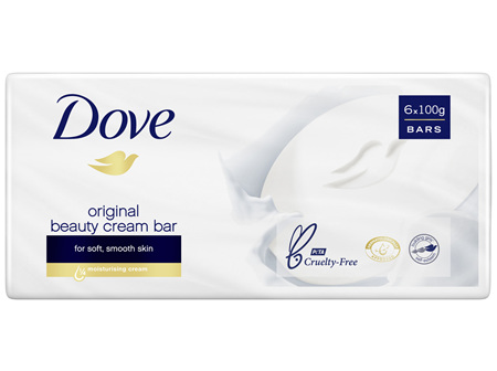 DOVE Beauty Cream Bar Original Soap 600 GR 6 Bars