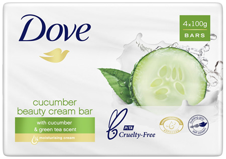 Dove Beauty Soap Bar Fresh Touch 4 pack 400g