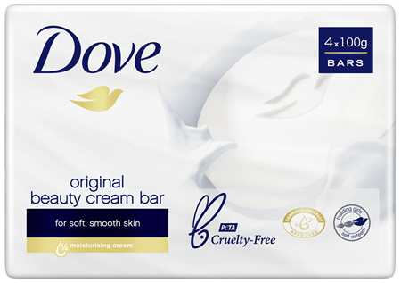 Dove Beauty Soap Bar Original 4 pack 400g
