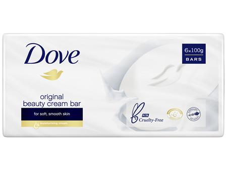 Dove Beauty Soap Bar Original washes away bacteria 600g