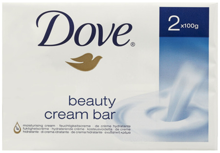 Dove Beauty Soap Bar Original washes away bacteria 2 pack 200g