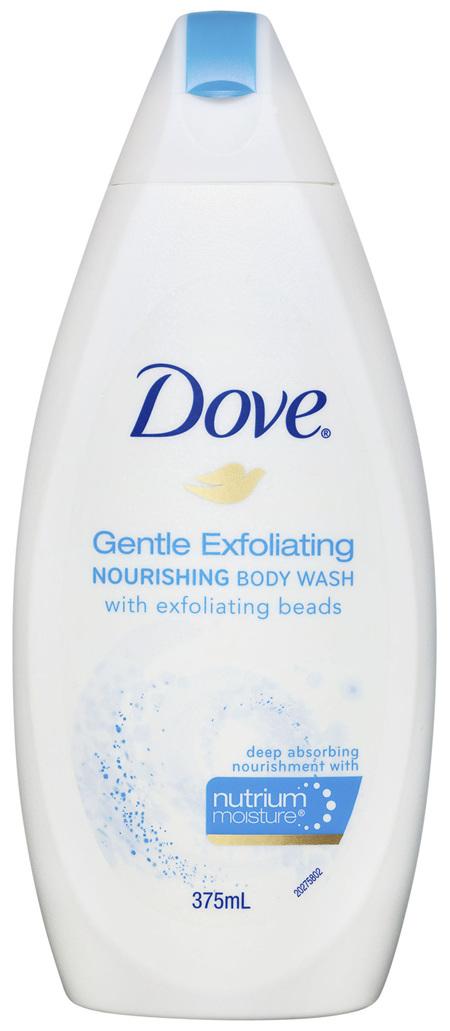 Dove Body Wash Gentle Exfoliating 375ml