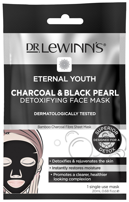 Dr. LeWinn's Eternal Youth Charcoal & Black Pearl Detoxifying Face Mask 1 pack