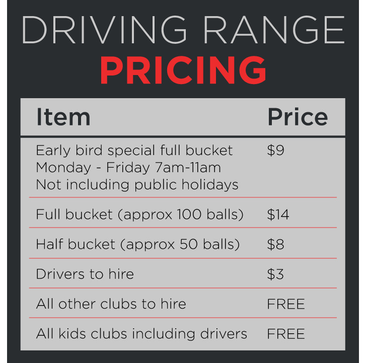 Driving range pricing