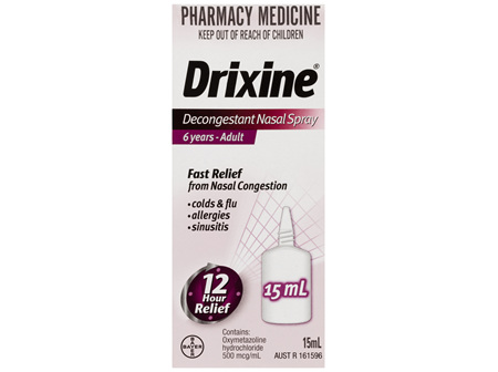 Drixine 12 Hour Relief Decongestant Nasal Spray 15mL