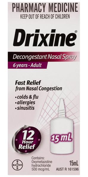 Drixine 12 Hour Relief Decongestant Nasal Spray 15mL