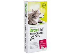 DRONTAL ALL WORMER CAT 6KG 2 PACK