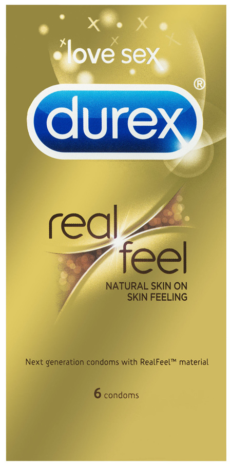 Durex Real Feel Condoms Natural Skin Feeling 6 Pack