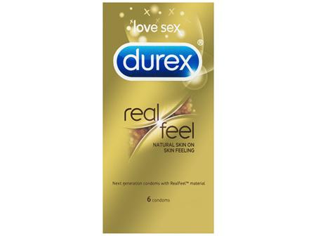 Durex Real Feel Condoms Natural Skin Feeling 6 Pack