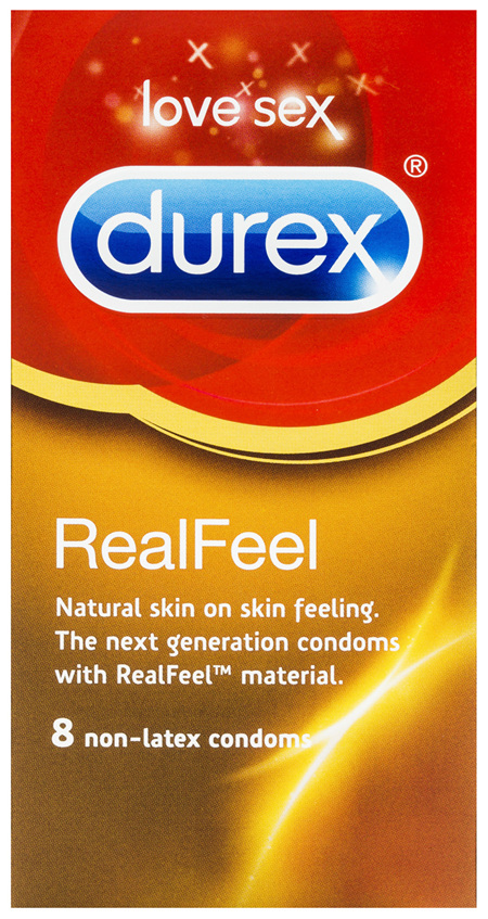 Durex Real Feel Condoms Natural Skin Feeling 8 Pack