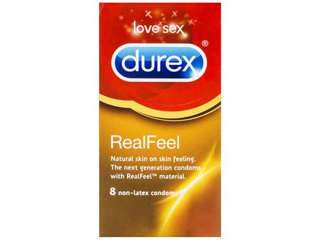 Durex Real Feel Condoms Natural Skin Feeling 8 Pack
