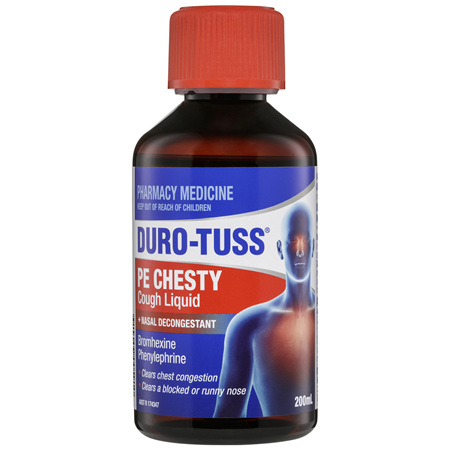 DURO-TUSS PE Chesty Cough Liquid + Nasal Decongestant 200mL