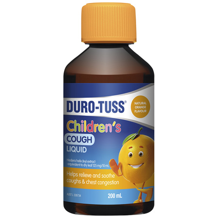 DUROTUSS CHILD COUGH LIQUID ORANGE 200ML